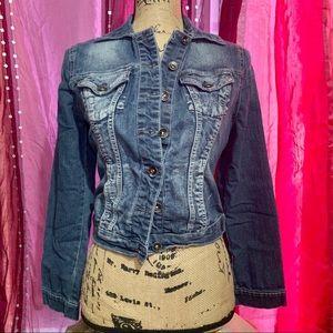 Paris Blues Denim Jacket Juniors Medium